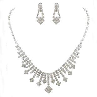 The bride necklace marriage accessories bride chain sets chain sets wedding accessories twinset