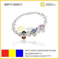Min order $15 ( mix order )  free shipping wholesale fashion full crystal beads bracelet vners