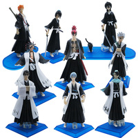 Free Shipping High Quality  9x Bleach Hitsugaya Toushirou Abarai Renji Figure Set Of 9 PCS