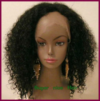 Fashion afro Kinkly Curl Human Hair Front Lace Wigs For African Americans Glueless Mongolian Virgin Wig with baby Baby Hair