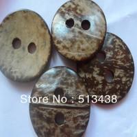 50pcs lot 38mm round nostalgic natur coconut large holes buttons,DIY doll .hat Woman coat sewing/scrapbook/craft/Cardmaker