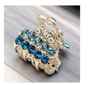 Small!Free Shiping!Color! Alloy Fashion Rhinestone hair claw Jewelry Crystal Metal Lady Hair Accessories E045