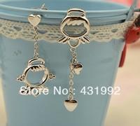 Personalized cute angel earrings asymmetric