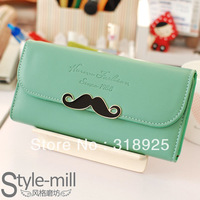 New arrival candy color sweet popular brief design women's long wallet