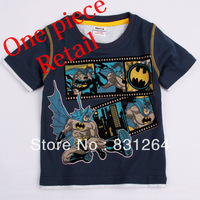 Free Shipping New 2013 Nova Brand Kid Cartoon Style Clothes Baby  Boys 100%Cotton Short Sleeve Tops Batman Printing T-shirt