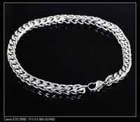 FREE SHIPPING Charm Men boy Bracelet , Wholesale Price ,  New Good Seller Silver Stainless Steel Bracelet