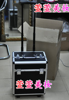 Large trolley cosmetic box professional trolley tool box trolley make-up box cosmetic trolley luggage