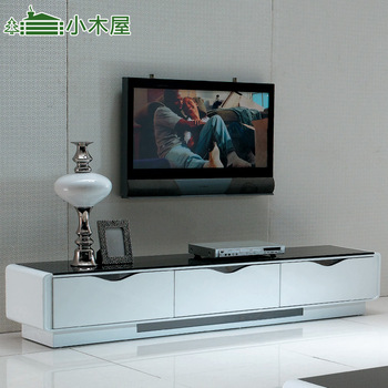 Free shipping Log cabin furniture - modern brief white paint tv cabinet