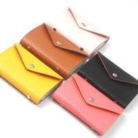 Korean version of simple envelope embossed leather 12 card bit buckle lady bank card pack card sets -009KB