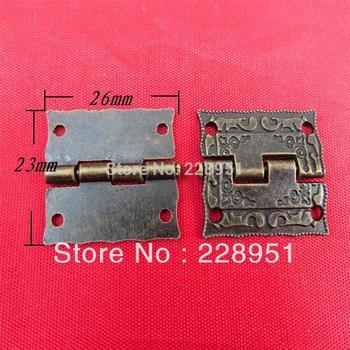 Antique decoration Hardware  gift box hinge bronze alloy stamp gift box 26 * 23mm Hinge