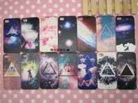 Colored drawing   for case for iphone 4 4s triangle lovers phone case transparent 10pcs/lot