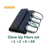 4 pcs 46mm 46 mm Close up Macro +1 +2 +4 +10 SLR Lens Filter Kit Set For Nikon Canon Camera free shipping+tracking