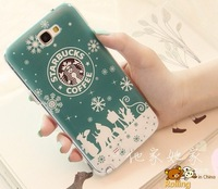 free shipping Starbucks coffee phone case for Samsung Galaxy Note II 7100 protector case