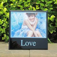 Quality crystal glass photo frame wedding dress photo frame swing sets love photo studio