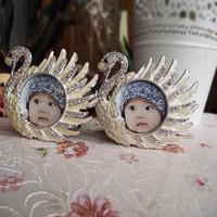 Bling personalized photo frame avatar 2 alloy rhinestone photo frame quality gift