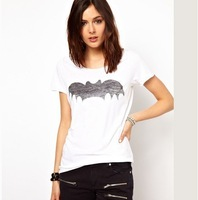 Free ship women/lady cartoon Batman women's short-sleeve 100% cotton t-shirt t shirt 2colors
