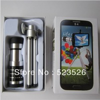 Free shipping 12x optical zoom Telephoto Telescope lens for Samsung GALAXY S4 I9500, with tripod / case / retail box