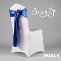 new  high quality royal blue satin sash, ribbon, silk, chair bow for wedding, children birthday from cheap factory in china