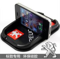 Multi-functional car Anti Slip pad Rubber Mobile Sticky stick Dashboard Phone Shelf Antislip Mat For Peugeot 206 3008 408 207