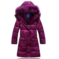 new 2013 the winter down jacket ,jackets are children's,down jacket winter,long,with hood coat for kids