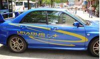 HOT selling Subaru car stickers SUBARU garland car sticker free shipping