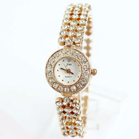 GK007 Free shipping, wholesale ladies fashion alloy Bracelet with quartz watches, crystal lady dress watch, factory price