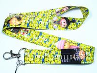 Free Shipping Kids Despicable Me Minions Key  Lanyard Minions mobile neck strap Lots