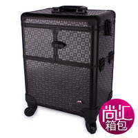 Sunrise big capacity multi-layer professional trolley cosmetic box black jl-4622t-b