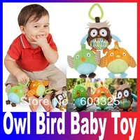 High Quality New Tree Top Forest Friends Take Along Owl Bird Activity Baby Toy Trio kids toys Free Shipping