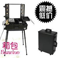 Large sunrise bulb belt mount professional trolley cosmetic box dressing table db2008hb