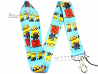 Free Shipping New Arrival Minions Key  lanyard Despicable Me neck strap Lots