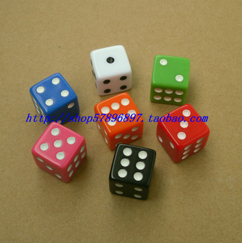 Freeshipping 16 mm 16 multicolour dice digital bosons boulimia right angle rejection of child table ktv