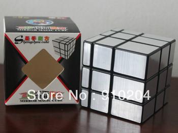 Free shipping! Shengshou mirror 3x3 magic cube, silver