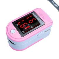 CONTEC Pink Fingertip Pulse Oximeter Contec 50DL Color LED Display , SPO2, Pulse Rate, Blood Oxygen Monitor