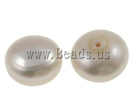Free shipping!!!Half Drilled Cultured Freshwater Pearl Beads,luxury, Round, natural, half-drilled, AA, 14-16mm, Hole:Approx 1mm