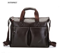 Fashion  Mens Genuine Leather Crossbody Shoulder Messenger Bag Briefcase 2 Colors 2 Versions Free Shipping Handbag