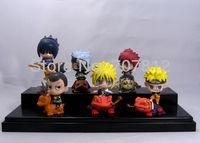 2013 Free Shipping Cute Naruto  Action Figure  High Quality  Mini  PVC  Sasuke/Kakashi/Minato