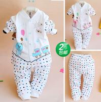 Baby clothes 123 clothes 100% cotton baby underwear set 100% cotton underwear long johns spring and autumn 602
