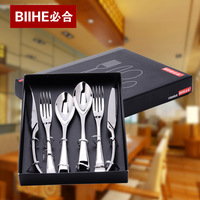 Retail exquisite gift box dinnerware sets stainless steel 2steak knives+2 forks+2spoon Free shipping