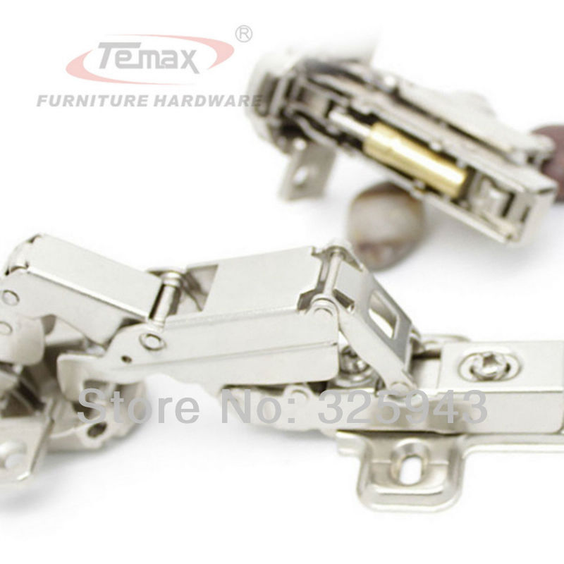 Furniture Hinge Steel And Brass Buffer Hydraulic Cabinet Door Hinges Temax 165 degree Clip-on Soft Close