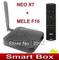 MINIX NEO X7 Quad core RK3188 2G 16G TV BOX set top box mini pc Android 4.2 rk3188 + FLY Airmouse MELE F10