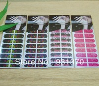 2013  new arrival nail wrap sticker(18pieces/set)
