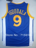 Golden State # 9 Andre Iguodala new fabrics blue and white jersey