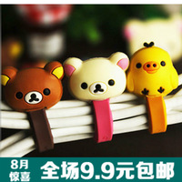 2164 korea stationery relaxed bear kitten jagg cable winder management-ray device cable winder