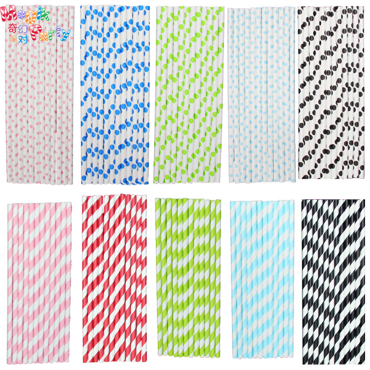 Striped Straws Paper Buy Paper Straws Red Striped 9