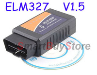 Works On Android Torque v2.1 Car Diagnostic Tool OBD2 OBD-II ELM327 ELM 327 V1.5 Bluetooth Car Diagnostic Interface Scanner
