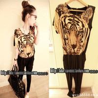 Harem pants female summer 2013 fashion plus size clothing tiger head trousers jumpsuits