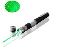 High Quality 532nm green laser pointer pen 5mW 2 in 1 green laser pointer stars cap Kaleidoscope AAA batteries Free shipping