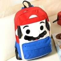 2013 double backpack canvas casual street cartoon middle school students school bag