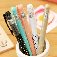 Not Pick Colors  Stationery Love Fresh Heart  Mini Gel  Pen 0.5 mm Black Free shipping